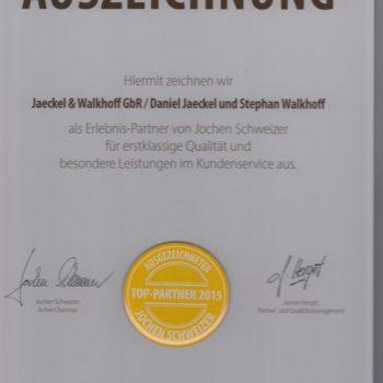 Die neue Auszeichnung für das JetSim-Erlebnis im FLugsimulator