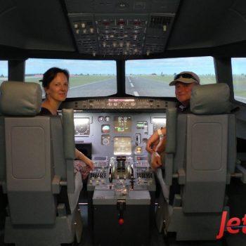 Detlef im Flugsimulator von JetSim in Berlin