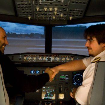 Gratulation zur erfolgreichen Landung - im JetSim-Flugsimulator Berlin