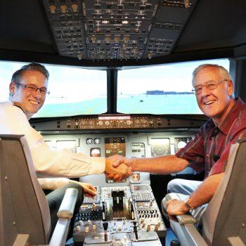 Gratulation zur erfolgreichen Landung im JetSIm-Flugsimulator Berlin