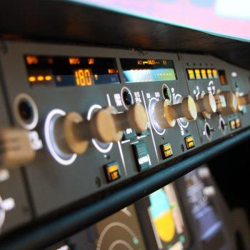 FCU-Foto im JetSim-Flugsimulator