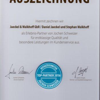 JetSim Flugsimulator Erlebnis Auszeichnung 2016